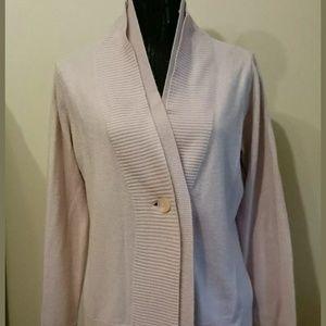 Jones Wear Pink Cardigan Sweater Size Small